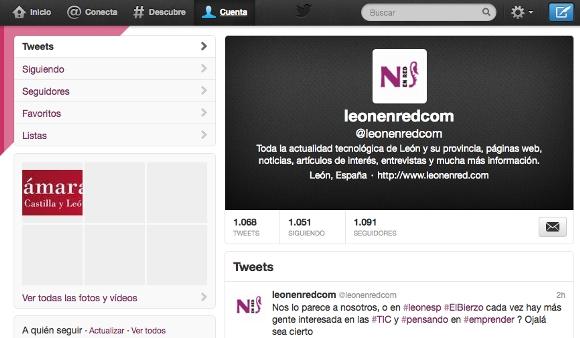 Captura de la cuenta de @leónenredcom en Twitter