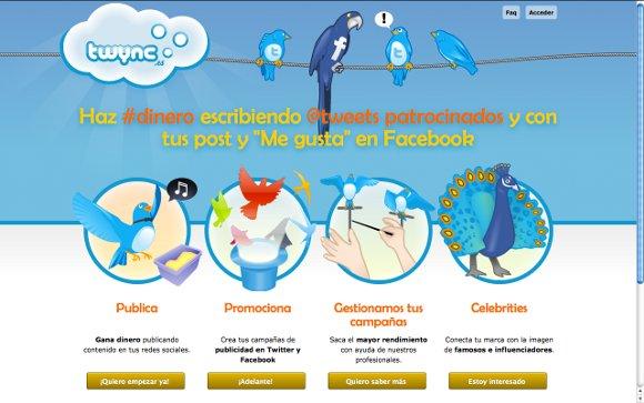 Twync.es Consigue dinero con tu @opinión acerca de productos y servicios en Twitter y Facebook