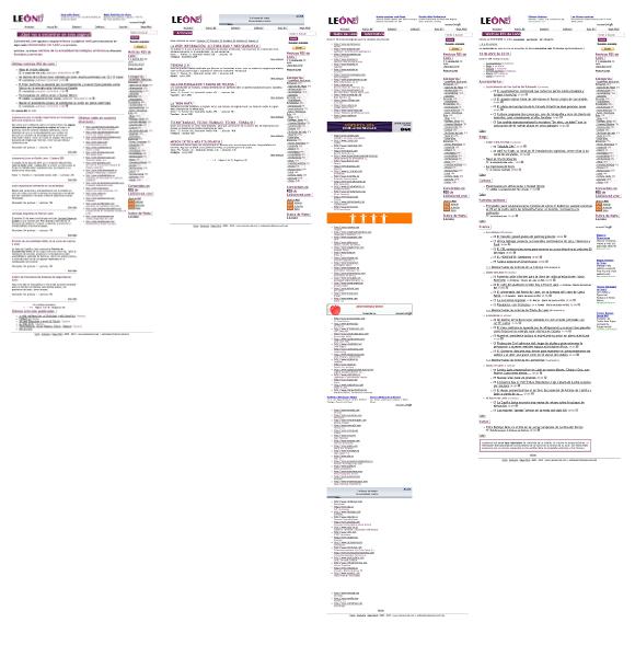 Capturas de pantalla de León en red (Abril de 2010)