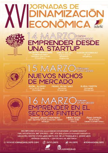 XVI Jornadas de Dinamización Económica Ildefe, 14, 15 y 16 de Marzo de 2017
