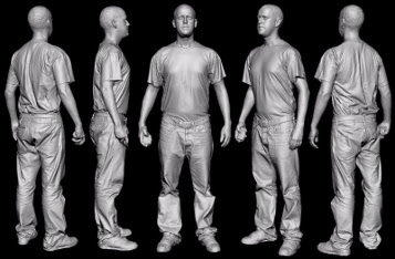 Diferentes perspectivas sobre la captura de información escaneda en 3D de una persona