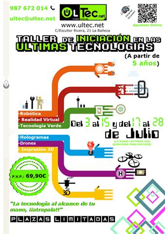 Taller de iniciación en las últimas tecnologías (a partir de 5 años)