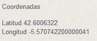 Coordenadas GPS del Hotel Restaurante Boccalino, en notación decimal