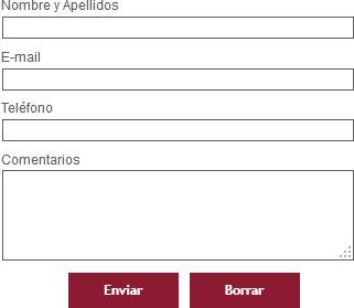 Formulario de contacto de las bodegas Ribas del Cuá