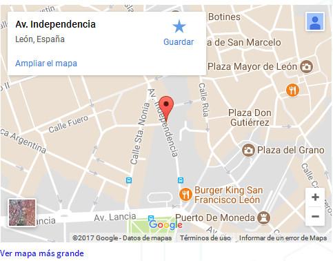 Mapa de ubicación de la Clínica Dental Clidenin