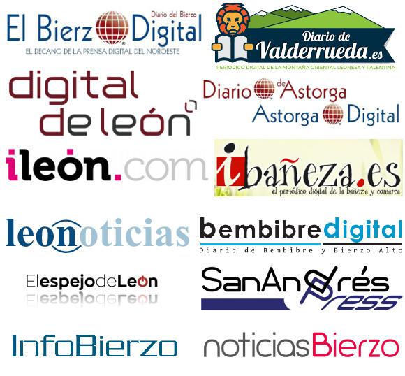 Varios de los medios digitales de comunicación de León y provincia que utilizamos como referencia