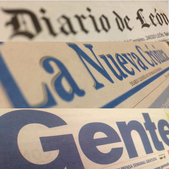 Algunos de los medios de prensa escrita y comunicación de León en soporte papel dónde en ocasiones encontramos nuevos enlaces: Diario de León, La Nueva Crónica y Gente de León.