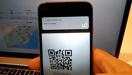 Leyendo coordenadas GPS de un mapa desde un código QR con un iPhone