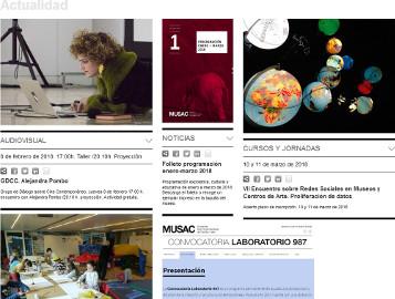 Portada de la página web del MUSAC, VII Encuentro sobre Redes Sociales en Museos y Centros de Arte, Proliferación de datos