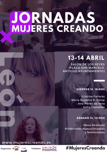 Cartel de las Jornadas Mujeres Creando, León