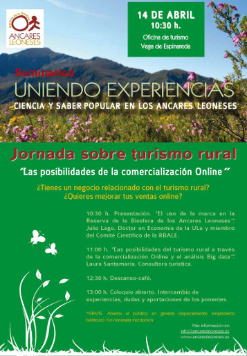 SCartel Seminarios Uniendo Experiencias, Ciencia y Saber popular en los Ancares Leoneses
