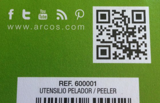 Código QR con el pelador de Arcos