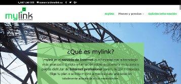 Captura de la página de inicio de Mylink.es, oferta de empleo para 3 vacantes en León
