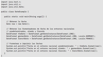 Ejemplo de código Java