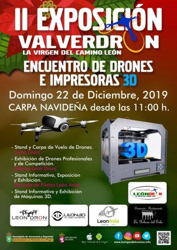 Cartel de la II Exposición de Drones e Impresoras 3D Valverdron