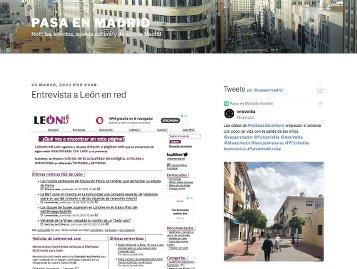 Entrevista a León en red, Pasa en Madrid. Captura de pantalla