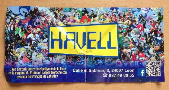 Flyer del Cyber Havell con código QR de su perfil en Facebook