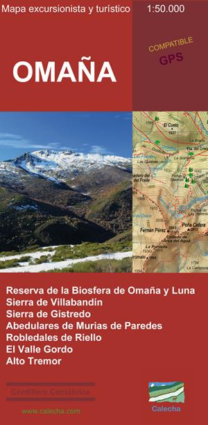 Omaña: Mapa Excursionista y Turístico 1:50.000